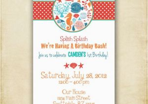Sea Life Birthday Party Invitations Items Similar to Ocean Birthday Sea Life Invitation