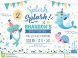 Sea Life Birthday Party Invitations Kids Under the Sea Birthday Party Invitation Card Stock