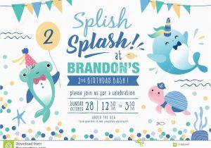 Sea Life Birthday Party Invitations Kids Under the Sea Birthday Party Invitation Card Stock