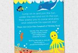 Sea Life Birthday Party Invitations Under the Sea Birthday Party Invitations Boy or Girl Sea