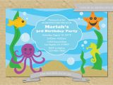 Sea themed Birthday Invitations 301 Moved Permanently