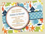 Sea themed Birthday Invitations Items Similar to Under the Sea Birthday Invitations Sea
