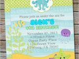 Sea themed Birthday Invitations Under the Sea Birthday Invitation New Design Digital