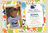 Sea themed Birthday Invitations Under the Sea Birthday Invitations Sea Creature Birthday