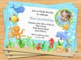 Sea themed Birthday Invitations Under the Sea Birthday Party Invitation Printable by