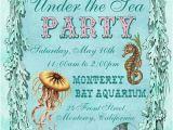 Sea themed Birthday Invitations Under the Sea Birthday Party Invitations Eysachsephoto Com