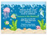 Sea themed Birthday Invitations Under the Sea Party Invitations Under the Sea Party