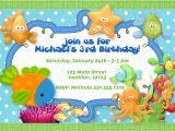 Sea themed Birthday Invitations Under the Sea theme Birthday Party Invitation Boys Under the