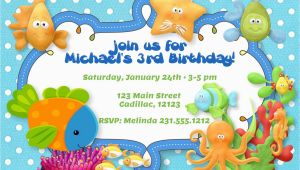 Sea themed Birthday Invitations Under the Sea theme Birthday Party Invitation Boys Under the