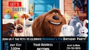 Secret Life Of Pets Birthday Party Invitations 12 the Secret Life Of Pets Birthday Party Invitations