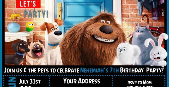Secret Life Of Pets Birthday Party Invitations 12 the Secret Life Of Pets Birthday Party Invitations