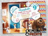 Secret Life Of Pets Birthday Party Invitations Sale Pets Movie theme Birthday Invitation Custom