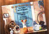Secret Life Of Pets Birthday Party Invitations Secret Life Of Pets Birthday Invitation by Adrianmariedesigns