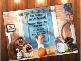 Secret Life Of Pets Birthday Party Invitations Secret Life Of Pets Birthday Invitation by Adrianmariedesigns