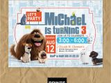 Secret Life Of Pets Birthday Party Invitations Secret Life Of Pets Invitation Secret Life Of Pets Custom