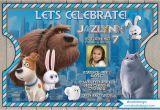 Secret Life Of Pets Birthday Party Invitations the Secret Life Of Pets Birthday Invitation the Secret