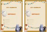 Secret Life Of Pets Birthday Party Invitations the Secret Life Of Pets Birthday Invitations Birthday