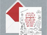 Seinfeld Birthday Card Seinfeld Birthday Card for the Ultimate Seinfeld Fan