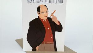 Seinfeld Birthday Card Seinfeld Greeting Card George Costanza the Jerk Store