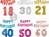 Self Inflating Happy Birthday Banner asda 16 Quot Happy Birthday 30 Quot Age Number Foil Balloons Self