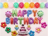 Self Inflating Happy Birthday Banner Card Factory Child Happy Birthday Balloon Set Baby Kids Letters Foil