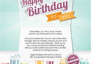 Send An Email Birthday Card Corporate Ecards Employees Clients Happy