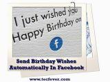 Send Birthday Cards Automatically How to Send Birthday Wishes Automatically Facebook