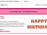 Send Birthday Cards by Mail Devintelle solution Odoo Experts How to Send