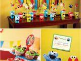Sesame Street 1st Birthday Decorations Colorful Diy Sesame Street Birthday Party Sesame Street