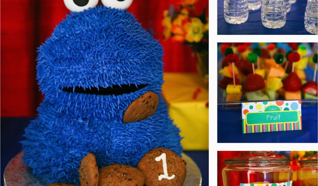 Download By SizeHandphone Tablet Desktop Original Size Back To Sesame Street 1st Birthday Decorations