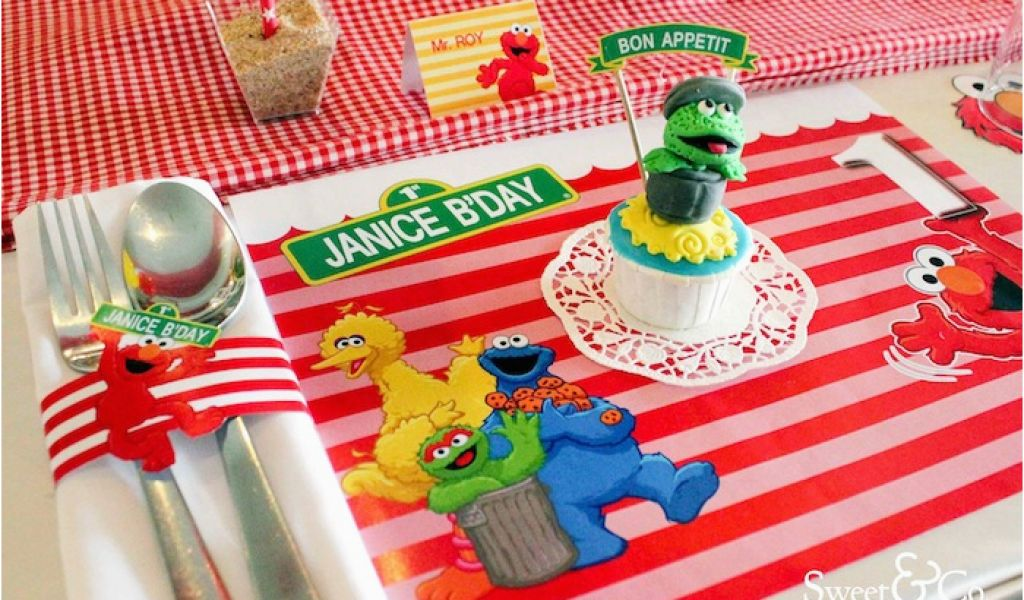 Download By SizeHandphone Tablet Desktop Original Size Back To Sesame Street 1st Birthday Decorations