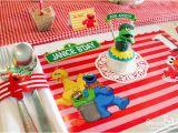 Sesame Street 1st Birthday Decorations Kara 39 S Party Ideas Sesame Street themed First Birthday Party