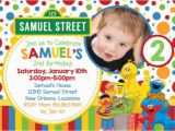 Sesame Street 1st Birthday Photo Invitations Free Sesame Street Birthday Invitations Bagvania Free