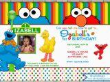 Sesame Street 1st Birthday Photo Invitations Sesame Street Birthday Invitation Photo Invitation