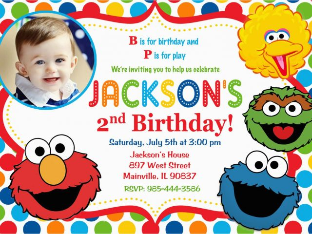 Download By SizeHandphone Tablet Desktop Original Size Back To Sesame Street 2nd Birthday Invitations