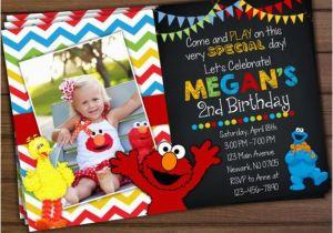 Sesame Street 2nd Birthday Invitations Invitation Elmo By