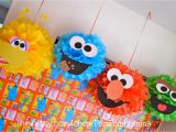 Sesame Street Birthday Decoration Ideas Sesame Street Inspired Party Poms