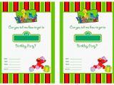 Sesame Street Birthday Invitation Templates Free Printable Sesame Street 1st Birthday Invitations