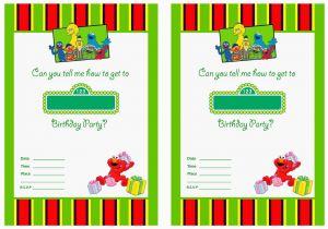 Sesame Street Birthday Invitation Templates Free Printable 1st Invitations