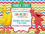 Sesame Street Birthday Invitation Templates Free Sesame Street Colorful Chevron Invitation Template