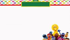 Sesame Street Birthday Invitation Templates Moms Kiddie Party Link Freebie Sesame Street Elmo and