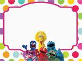 Sesame Street Birthday Invitation Templates Sesame Street All Characters Invitation Template