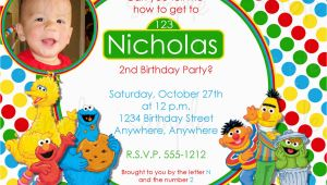 Sesame Street Birthday Invitation Wording Sesame Street Birthday Invitation