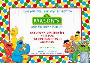 Sesame Street Birthday Invitation Wording
