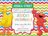 Sesame Street Birthday Invites Elmo Sesame Street Birthday Party Invitations Drevio