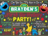 Sesame Street Birthday Invites Sesame Street Chalkboard Invitation Sesame by Letsgetchalky
