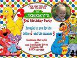 Sesame Street Birthday Party Invitations Personalized Free Printable Custom Sesame Street Birthday Invitations