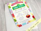 Sesame Street Birthday Party Invitations Personalized Sesame Street Elmo Birthday Invitation Boy Girl Version