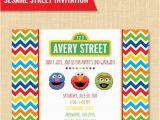 Sesame Street Birthday Party Invitations Personalized Sesame Street Style Friends Birthday Party Invitation Custom