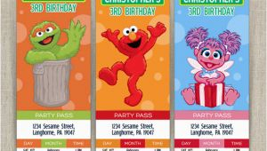 Sesame Street Birthday Party Invitations Personalized Stunning Personalized Sesame Street Invitations Especially